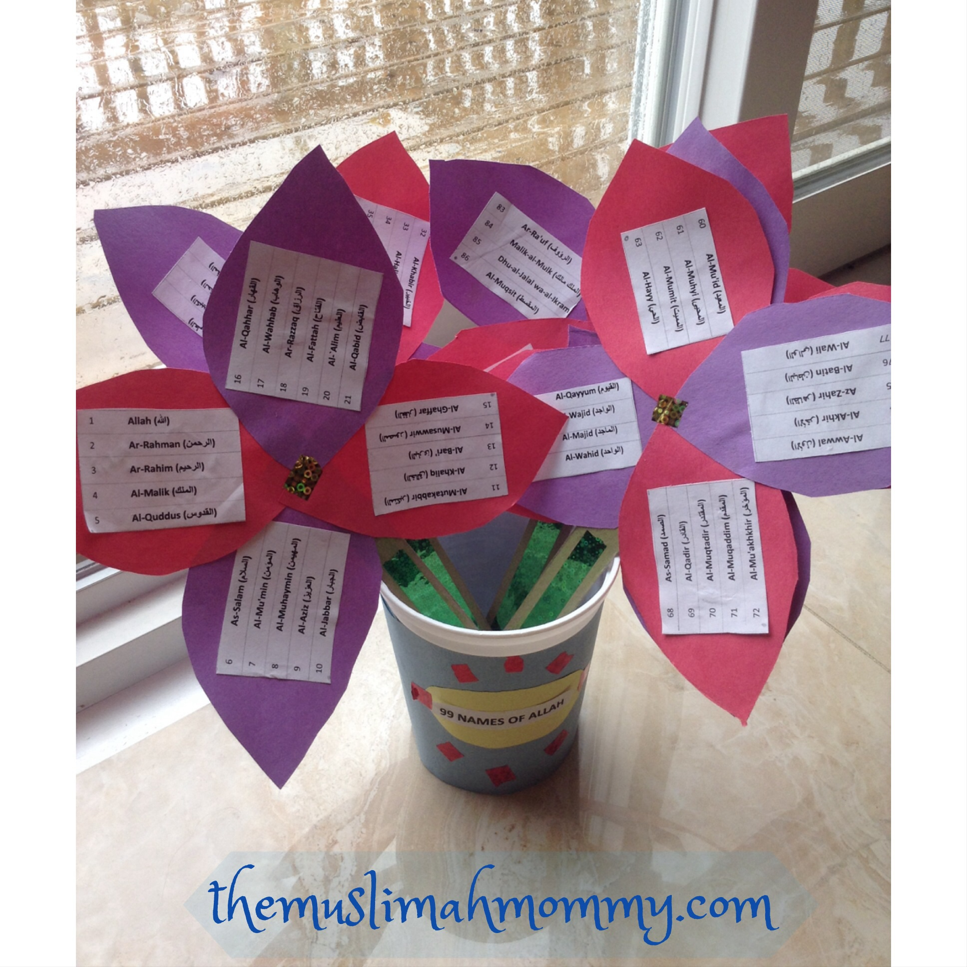 99 Names Of Allah, DIY Flowers In A Pot - Sumaira Z