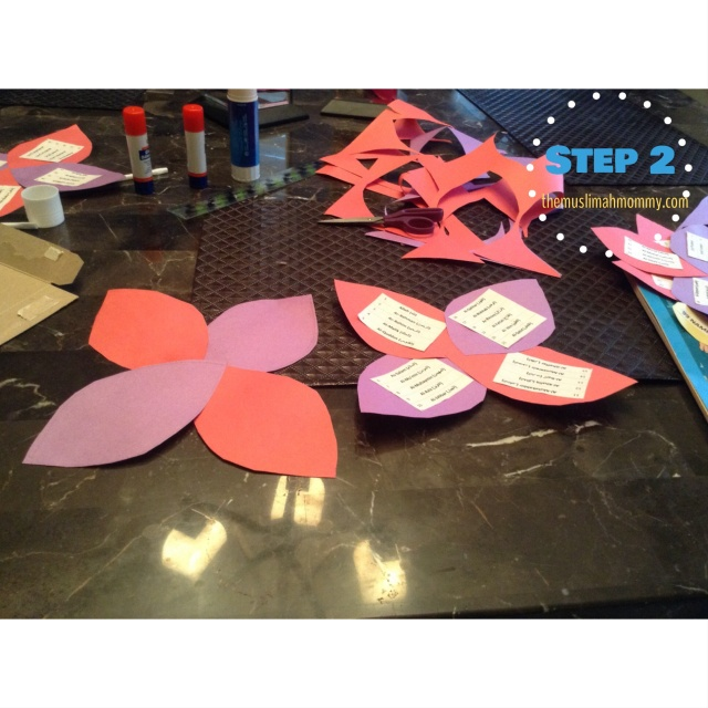 Glue the petals together to form the shape of a flower.