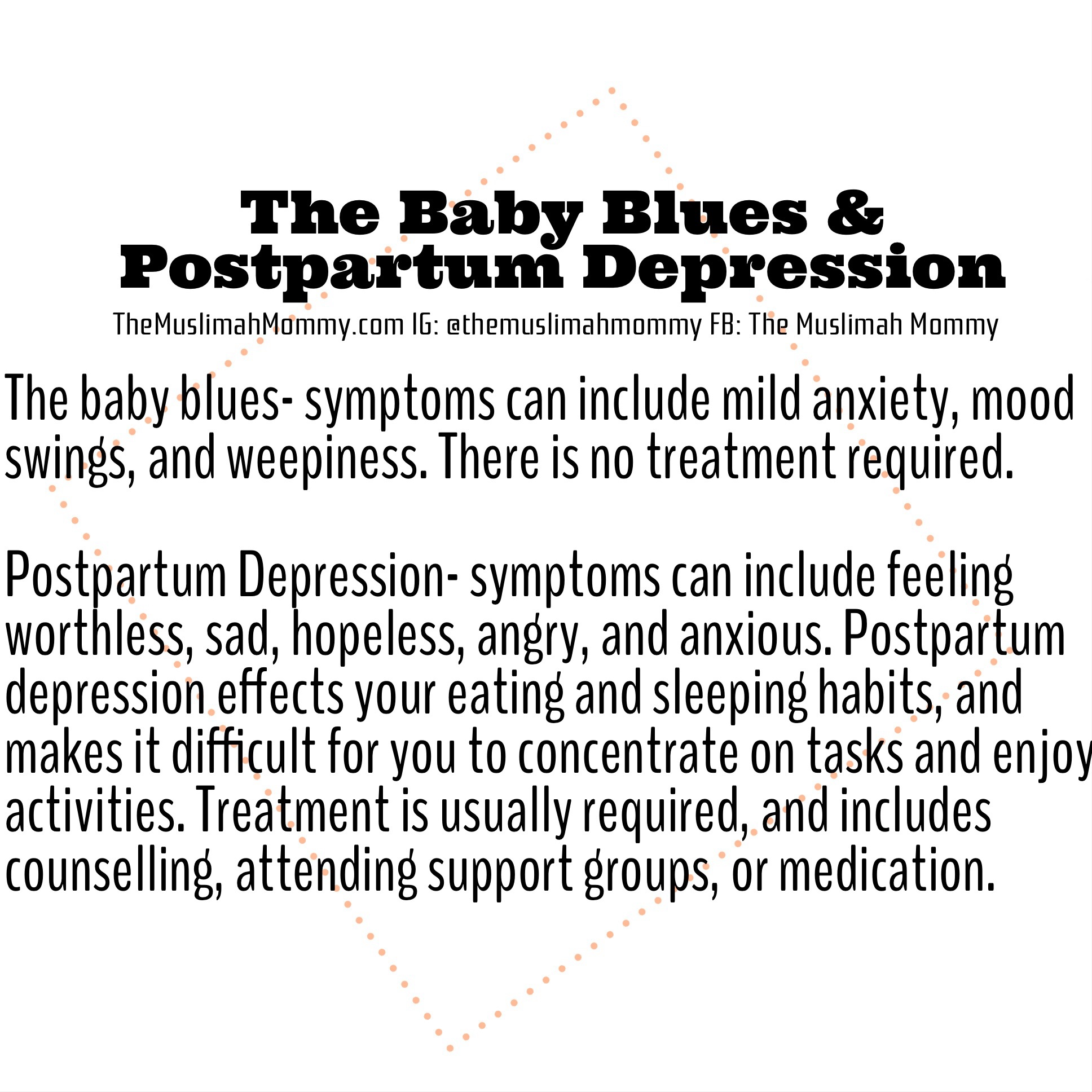 The Baby Blues & Postpartum Depression - The Muslimah Mommy